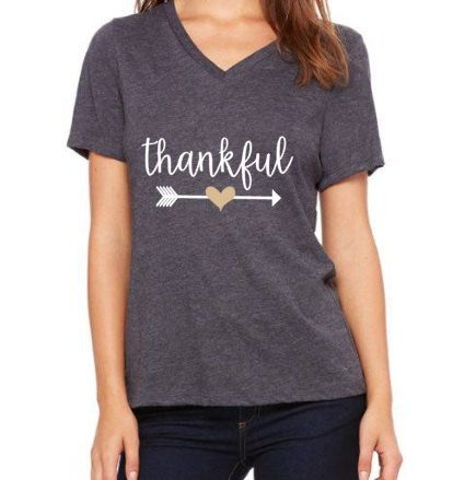 Thankful Shirt Thanksgiving Shirt Arrow Shirt Gift for Her Mom Shirt Mom T-Shirt Shirt for Her Shirts with Sayings Women's Shirt by AveryAnnBoutique on Etsy