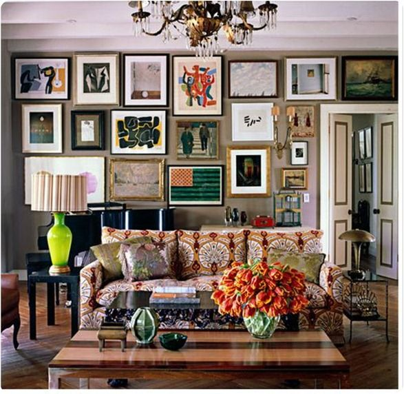 "Ah! This speaks to me. See, no matter how inspirational I find the pictures of rooms with composed color combinations, I know that in real life I end up more like this. ""Auntie Mame"" style. Exactly right! I love things!"