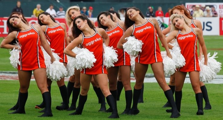 The Aggreko Dynamos perfectly choreographed at the 2012 Tournament #AggrekoDynamos #Cheerleaders #Dubai7s #Rugby #Dubai