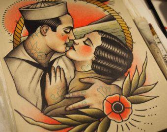 Vento nella mia vela tatuaggio stampa di ParlorTattooPrints