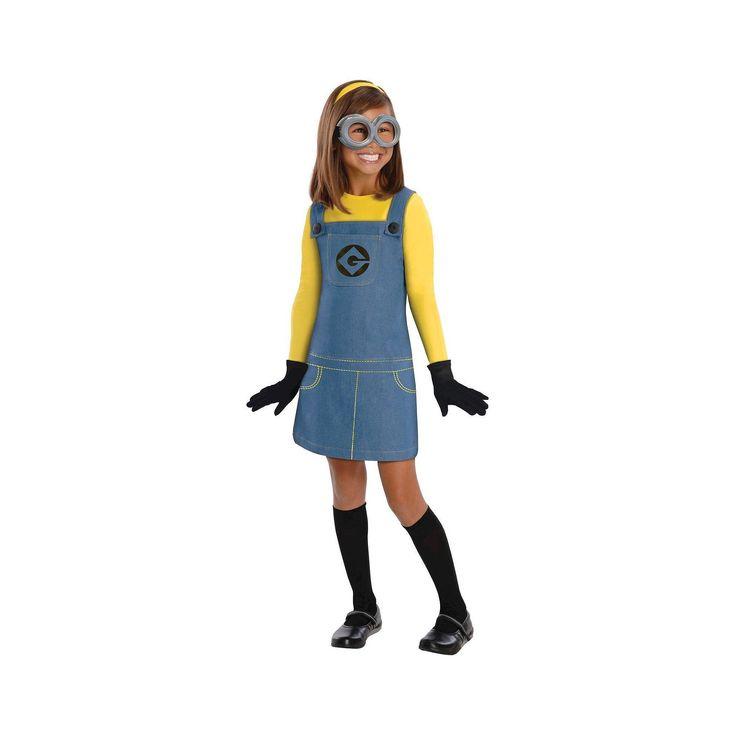 Halloween Despicable Me 2 Girls' Minion Costume Medium (8-10), Size: M(8-10), Multicolored