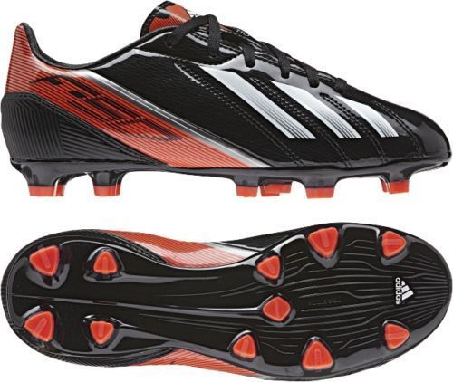 Adidas Boys Black Red F10 TRX FG  Football Moulded Stud Soccer Boots SIZE 4.5