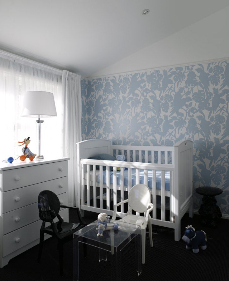 Greg Natale | Sydney based architects and interior designers. Nursery, blue and white and black.