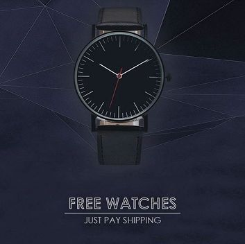 FREE WATCHES!  We're growing so fast this year, and that's all thanks to you guys!  We're giving away free watches to give our brand a global reach, if you LOVE it when you receive it tell your friends and family. Just cover the small shipping fee. Order Here -> https://trendyfashionwatches.com/co�/free-for-a-limited-time
