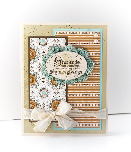 thanksgiving: Cute Cards, Cards Ideas, Cards Fal, Cards Scrapbook, Pattern Paper, Quotes Stamps, Thanksgiving Cards, Homemade Cards, Cards Lov