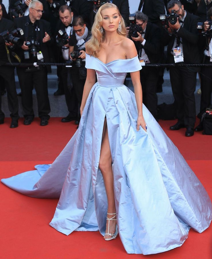 Elsa Hosk in Alberta Ferretti attends 'The Beguiled' premiere during the 70th edition of the Cannes Film Festival. #bestdressed