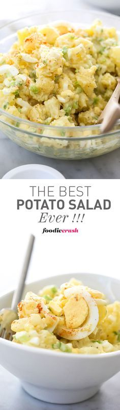 This is my mom's famous recipe for Potato Salad and one of my most popular recipes ever   foodiecrush.com