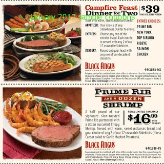 Black angus coupons for jan 2018
