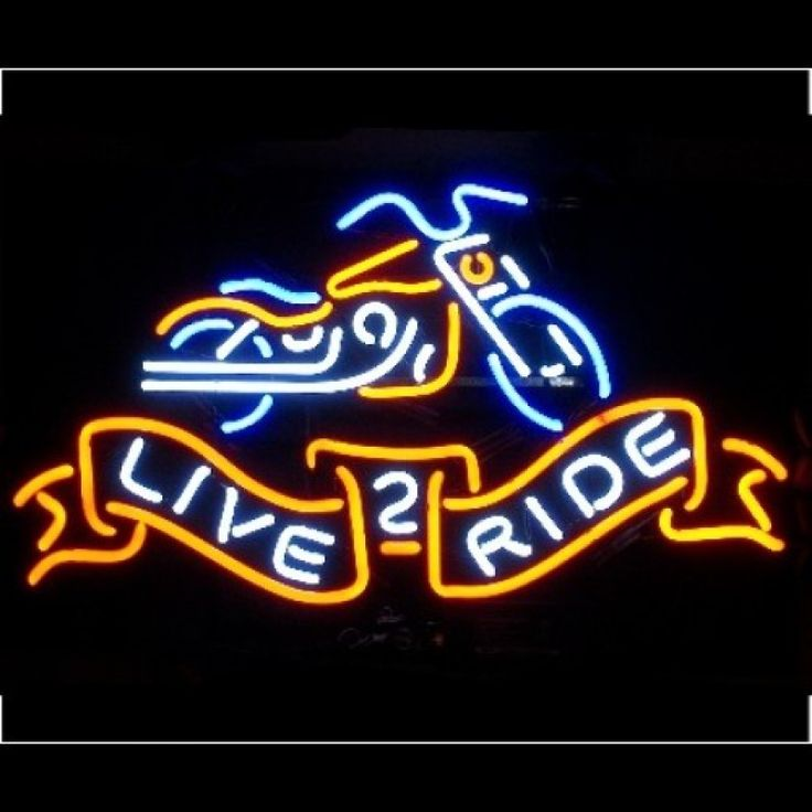 Neon Bar Sign - Live 2 Ride