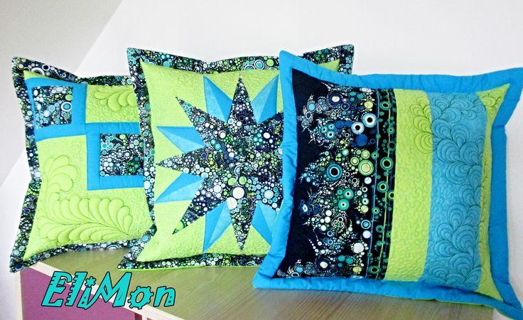 Set pillow modern desing patchwork & quilt