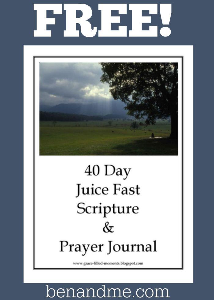 40 Day Juice Fast Scripture & Prayer Journal {Free Printable}