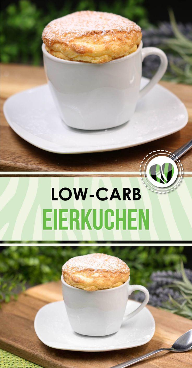 Der Eierkuchen ist super lecker, richtig fluffig und zudem noch lowcarb, glutenfrei und zuckerfrei. Das Rezept eignet sich fürs Eierfasten
