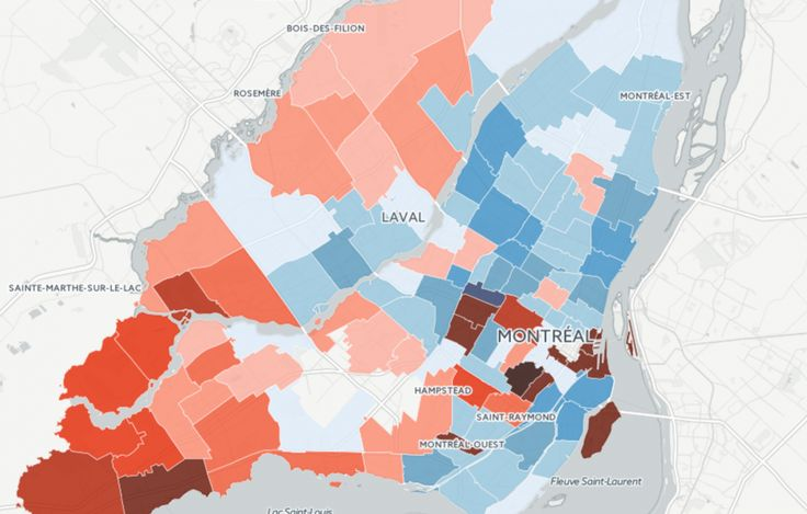 A Montreal Map Showing The Richest And Poorest Neighbourhoods In The City