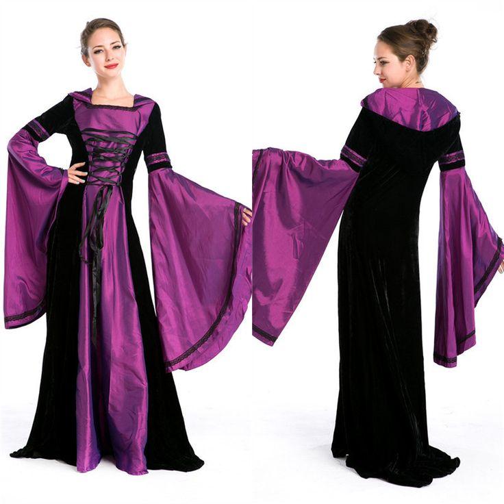 Pas cher Lolita Gothique Renaissance Costume Médiéval Mythique longue Robe Cour costume Halloween princesse jeux de société de luxe vêtements, Acheter  Habits de qualité directement des fournisseurs de Chine:[xlmodel]-[personnalisé]-[31260]accessoires Description robe [xlmodel]-[photo]-[0000]produit Photos          [xlmodel]-[