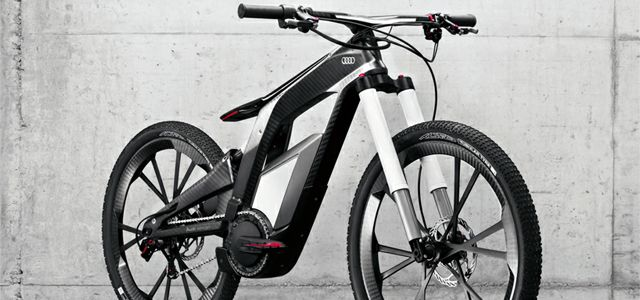 the new audi e bike w rthersee features a electric motor that can help you hit 50 mph and. Black Bedroom Furniture Sets. Home Design Ideas