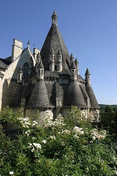 Fontevraud Abbey, Maine et Loire. The Romanesque kitchen, a fascinating…
