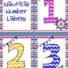 Nautical and Chevron..the perfect combination.  Great for numbering math tubs or centers!