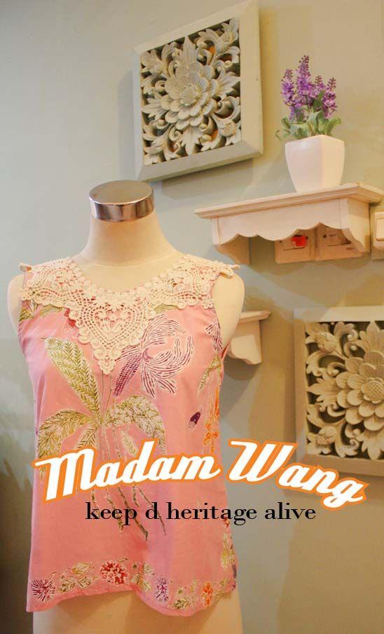 batik top pink