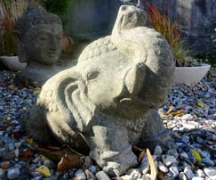Skulptur Elefant, Lavastein - www.mangold-interieur.com
