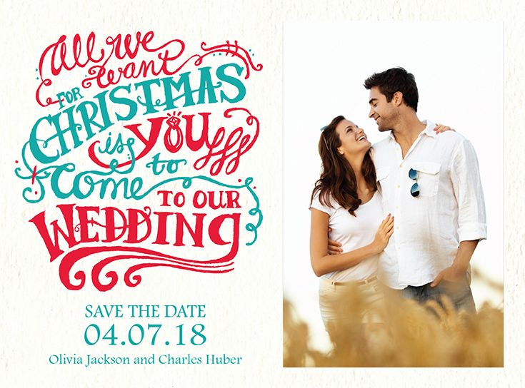 christmas wish holiday card save the date here comes the bride pinterest save the date wedding and save the date cards