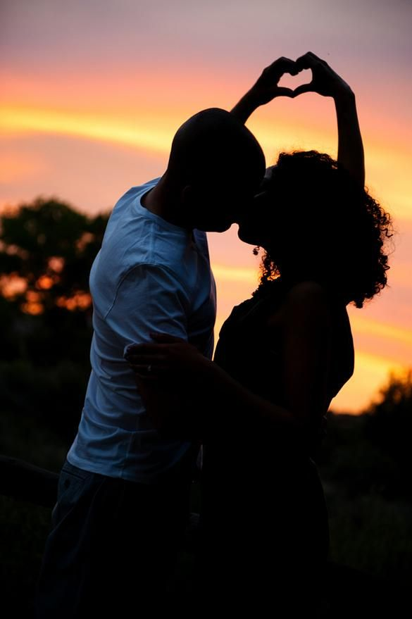Gorgeous! Engagement photo at sunset at El Rancho de las Golondrina in Santa Fe, NM