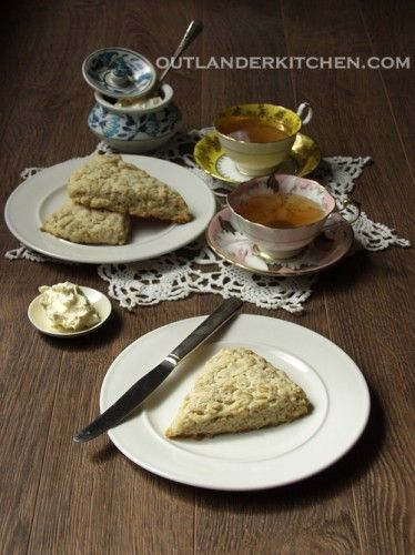 Mrs. Graham's Oatmeal Scones with Clotted Cream - From Outlander Kitchen