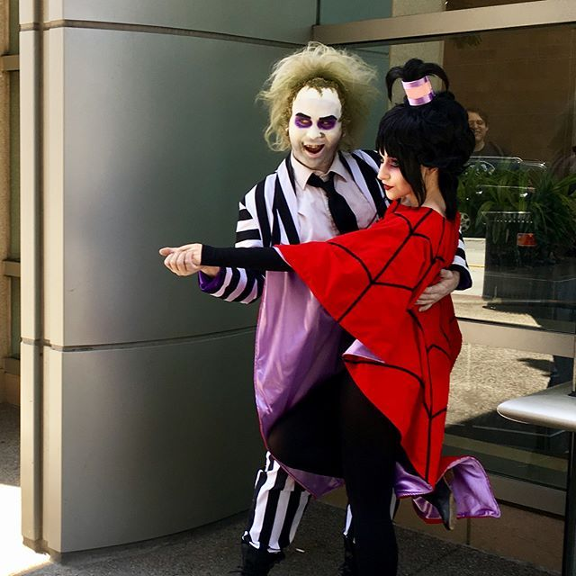 BEETLEJUICE BEETLEJUICE BEETLEJUICE!! @madhatterboy took a page from the Handbook for the Recently Deceased for this epic cosplay.  • • • #beetlejuice #cosplay #cosplayer #sdcc2017 #sandiego #sandiegocomiccon #picoftheday #makeup #cosmetics #mua #fotd #ootd
