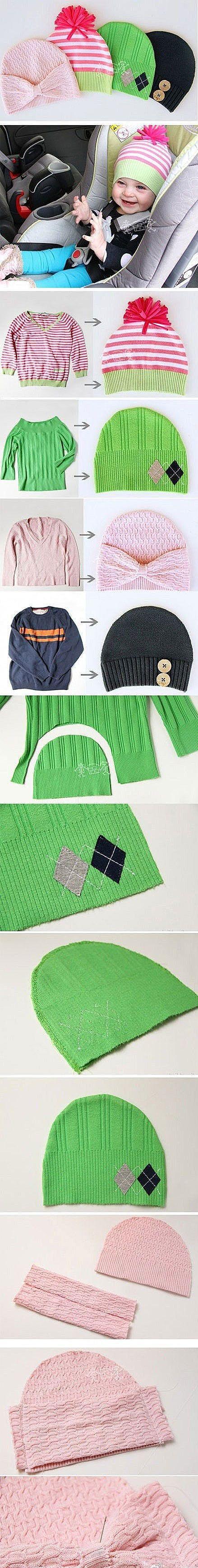 Симпатичная вязанная шапка / Easy way to make a DIY crochet hat