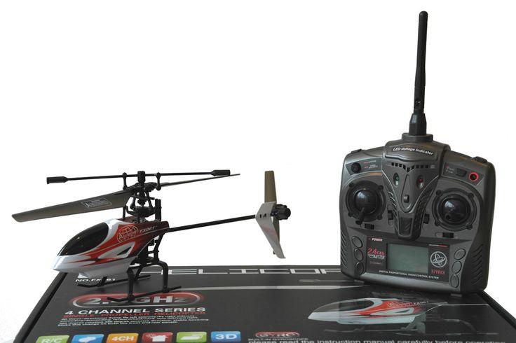 FX61 RTF Single Rotor RC Helikopter - 2.4 GHz - 4 Kanals     Lille RTF RC Helikopter med gode flyve egenskaber. Nem at styre, men alligevel udfordrende for den mere øvede pilot grundet de 4 kanaler. Flyv indendørs og udendørs i roligt og vindstille vejr.    27 cm.   Single Rotor   Fast Pitch med Gyro   LCD monitor   2.4GHz, 4 kanals   Ca. 1 times ladetid   Ca. 8 til 10 minuters flyvetid   Rækkevidde op til ca. 50 meter