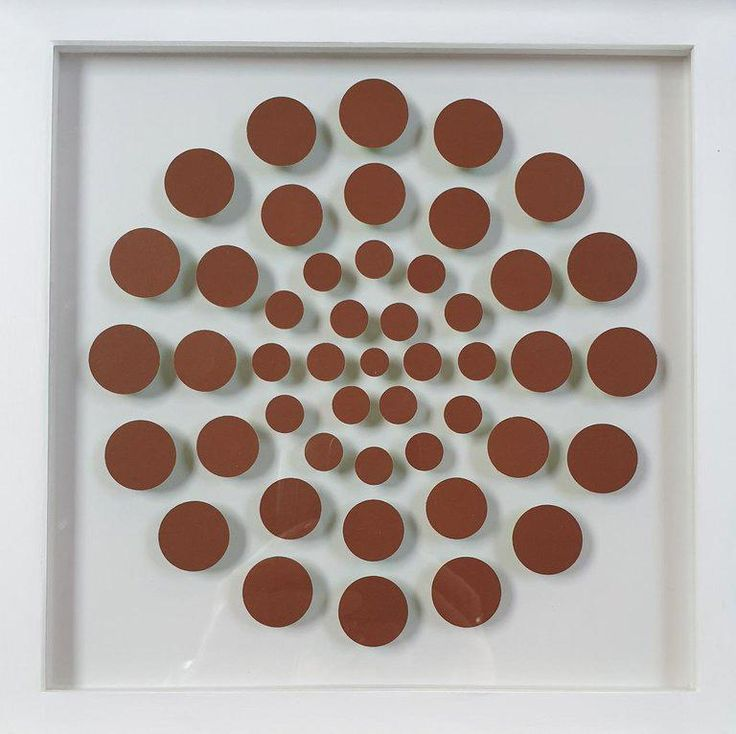 Eliza Kopec – 47 Dots V – contemporary modern abstract geometric paper relief