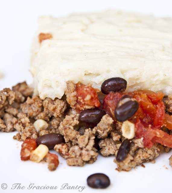 Clean Eating Recipes | Clean Eating Mexican Shepherds Pie (sub Bocca crumbles for meat to make it vegan)