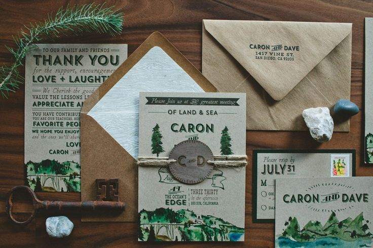 Rustic Woodland Water Color Wedding Invitation by WideEyesPaperCo, $2.50