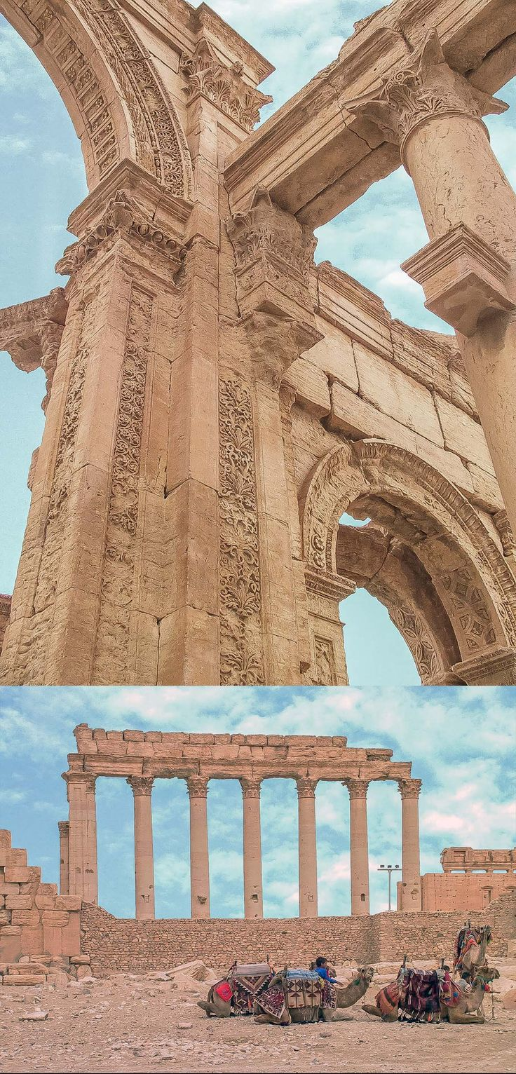 Palmyra - the Arch of Triumph and The Colonnade - Syria