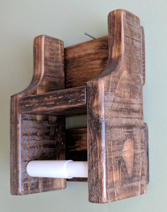 Rustic Toilet Paper Holder with Shelf made from Reclaimed and   – delizie della …  – most beautiful shelves