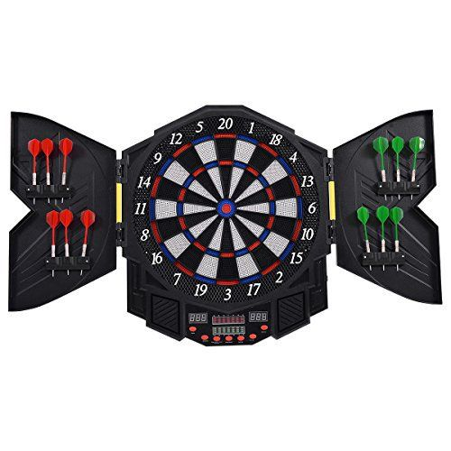 Goplus Professional Electronic Dart board Cabinet Set Dartboard Game Room LED Display w/ 12 Darts  Full review at: http://best10best.com/best-dartboard/