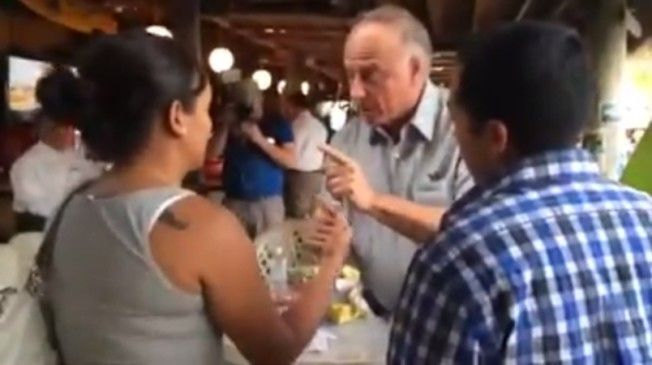 Rep. Steve King Grabs Latino Woman's Wrist: 'You're Very Good At English' (VIDEO)   Steve King is such a POS. Remember folks, Steve King believes and fights for DOG FIGHTING to be legalized in America. I totally HATE THIS MAN!