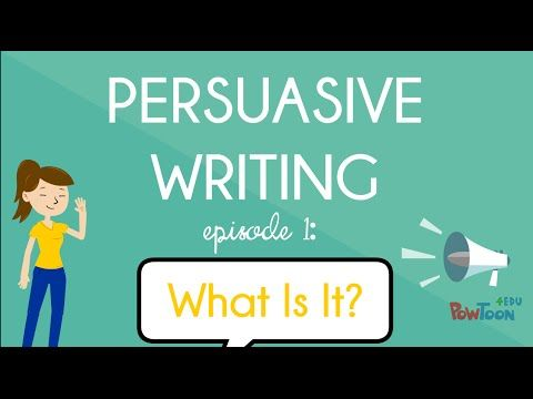 Writing a Persuasive Piece