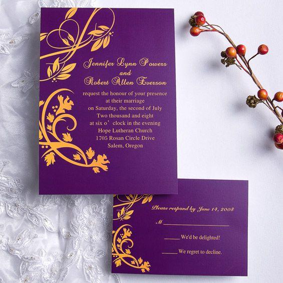 Deep Blue Flying Vine Wedding Invitation ING103 [ING103] - $0.00 : Invitation Store, Invitationstyles.com