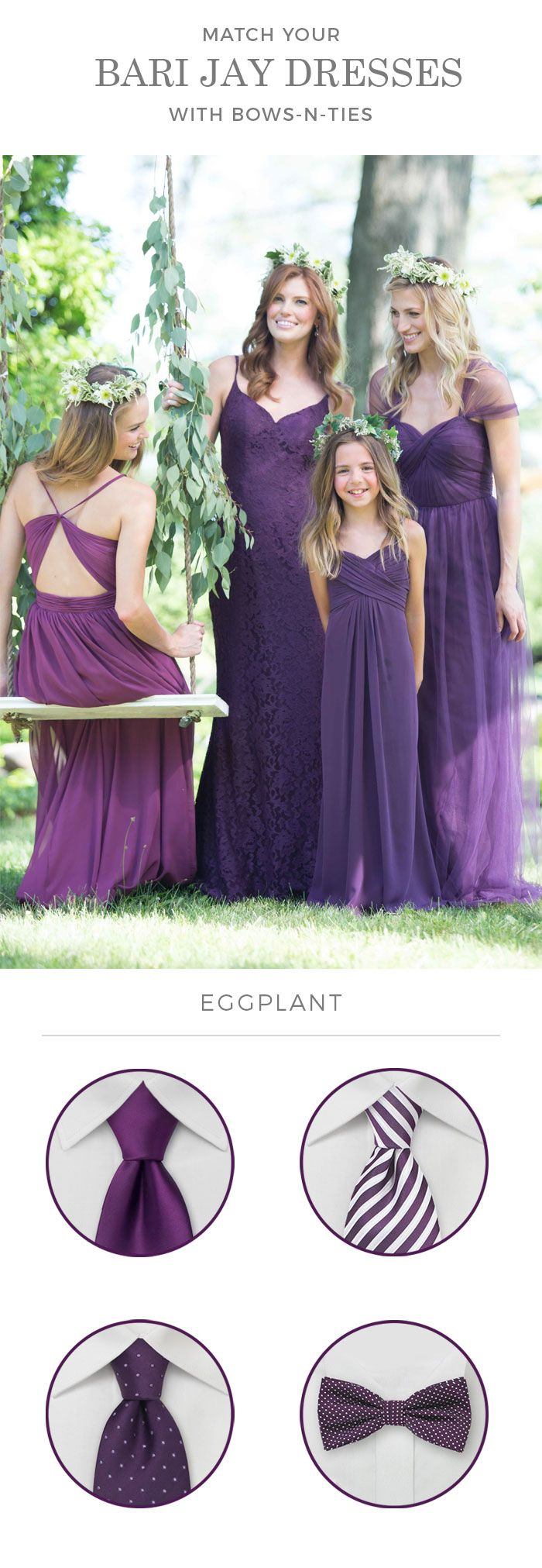 Groomsmen Accessories To Match Bari Jay Eggplant