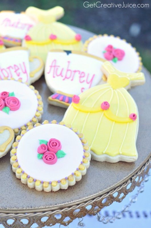 Beauty and the Beast Sugar Cookies