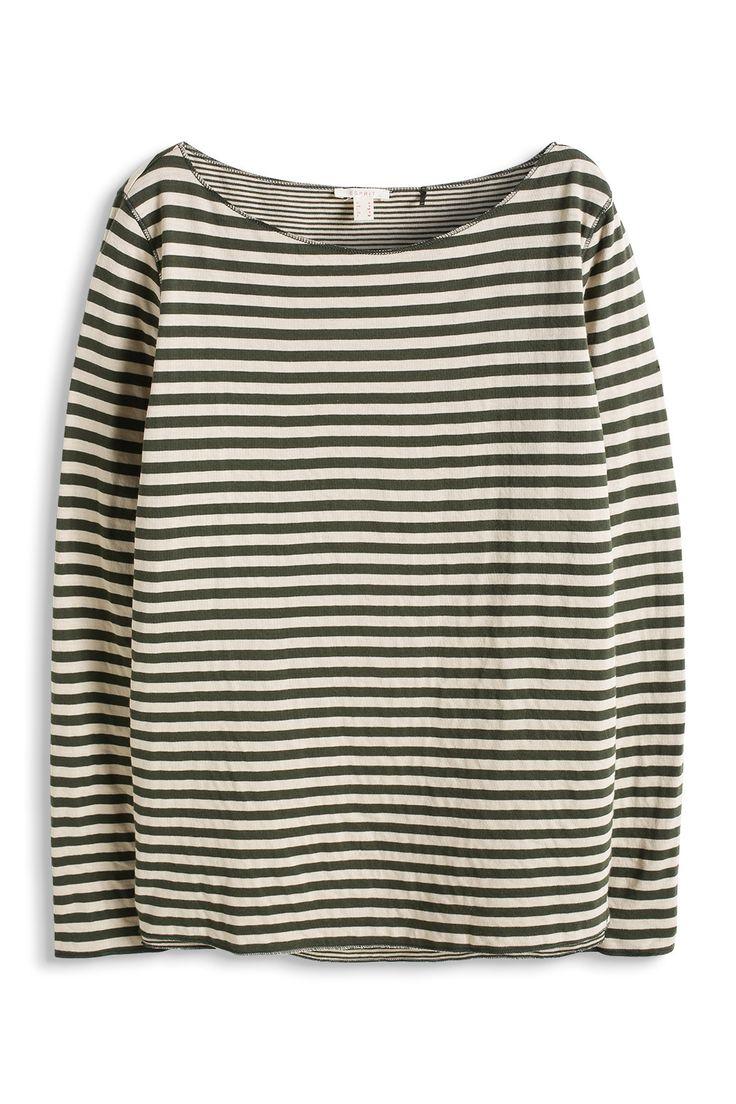 Esprit - - Gestreepte jersey longsleeve kopen in de online shop