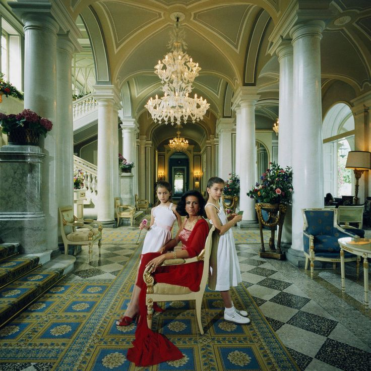 Palm Beach Chic Circa 1990s: Mr & Mrs Donald Leas With Rolls Royce, Flagler Museum