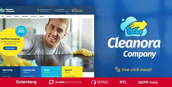 Cleanora Cleaning Services Theme Columns4 Bootstrap