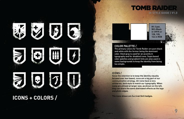 TOMB.RAIDER.UI + IDENTITY DESIGN // on Behance