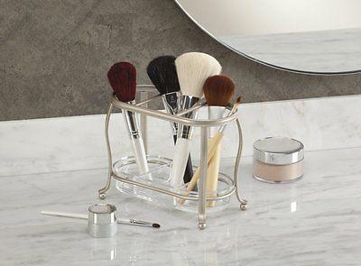 New-Vanity-Countertop-Cosmetics-Make-Up-Brush-Organizer-Tray-Satin-Perfume-Tray