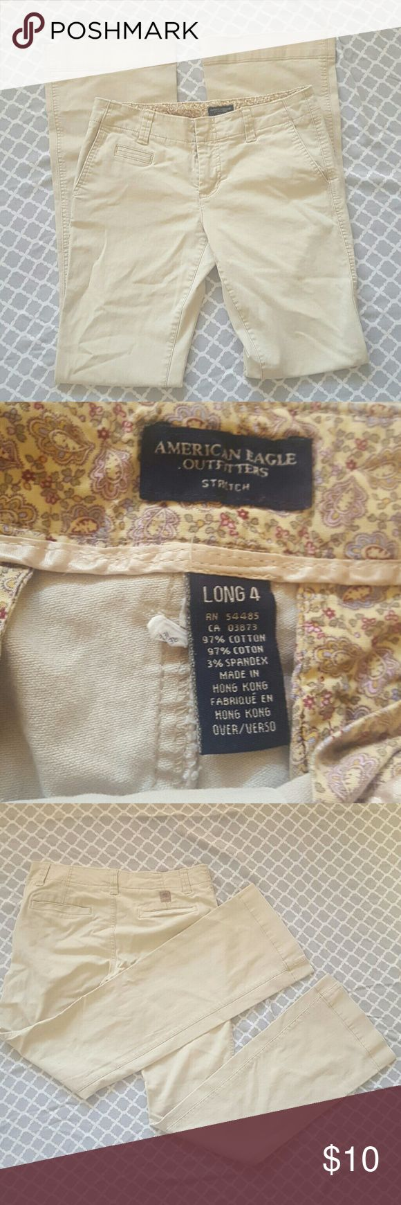 """American Eagle Pants Cute and casual. Make any outfit put together easily. Great for work. 4 long. 33"""" inseam. American Eagle Outfitters Pants Trousers"""