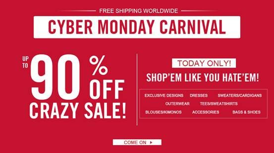 Cyber Monday Carnival on Oasap, up to 90% off sale ->>http://www.oasap.com/