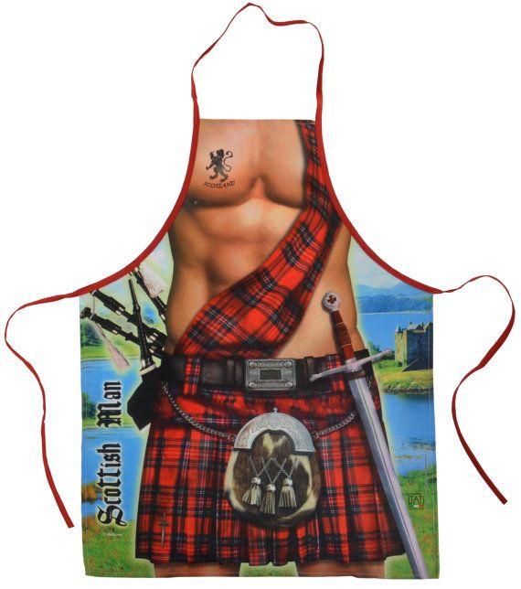 Scottish Man Kilt Apron Hilarious / Funny by incrediblegiftscom, $17.50