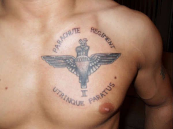 Parachute regiment tattoo uktv pinterest parachute for Tattoos in the british army