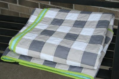 Crazy Mom Quilts is my favorite quilting blog!! Amanda Jean does amazing things with fabric and she shows steps that are easy to follow. I want to make this beautiful gingham quilt.